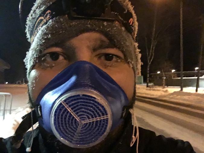 Med en kuldemaske, er ikke temperaturen ute et problem.